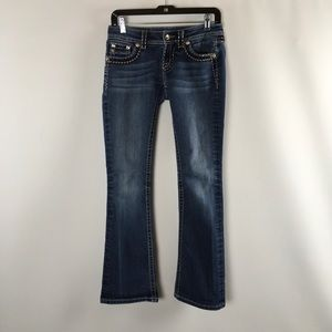 Miss Me Womens Jeans Size 26 JS5014B89V Boot Blue